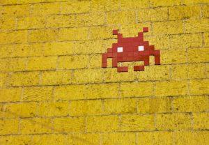 Mosaic Alien Sur Mur