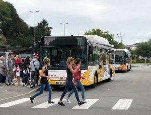 Pendant la semaine européenne de la mobilité qui aura lieu à Quimper (Finistère) du lundi 13 au dimanche 19 septembre 2021, le titre pour la journée sera à 1,50 € au lieu de 4 €.   ARCHIVES OUEST-FRANCE